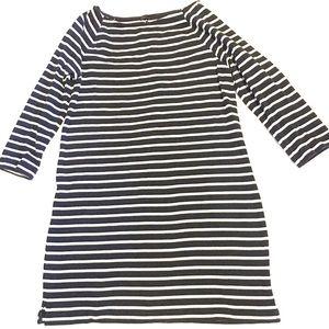 GAP Long Sleeve T-shirt Dress Size XL Blue Stripes